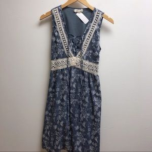 A'reve Small Navy with White lace detailing dress